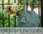 Crochet Pattern // Round Circle Handbag Tote Beach Market Purse Tassel // Capri Circle Bag PATTERN