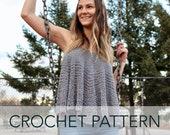 Crochet Pattern // Circle Swing Tank Summer Spring Boho Hippie 70s Retro Top // Flower Child Circle Tank PATTERN