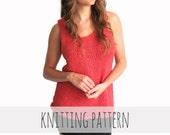 PATTERN for Knit Tank Top Casual Everyday Simple Loose // Saturday Tank PATTERN