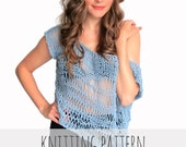 PATTERN for Loose Knit Top Drop Stitch Lace Net Beach Cover Up // Shipwrecked Top PATTERN