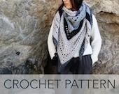 Crochet Pattern // Eyelet Cutout Tassel Triangle Wrap Scarf Shawl // Mystic Morning Wrap PATTERN