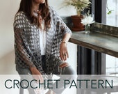 Crochet Pattern // Triangle Wrap Witchy Boho Shawl Scarf Beach Cover Up // Eastwick Wrap PATTERN