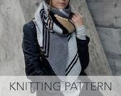 Knitting Pattern // Striped Diagonal Long Bias Scarf // Metro Bias Scarf PATTERN