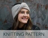 Knitting Pattern // Twisted Wide Bow Ribbed Headwrap Headband Ear Head Warmer // Thermal Twist Headwrap PATTERN