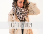PATTERN for Chunky Soft Big Loop Crochet Marled Cowl // Tompkins Square Cowl PATTERN