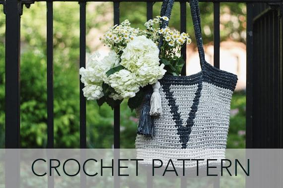 2cb9f0587e Crochet Pattern    Basket Market Purse Tote Tapestry Tassel