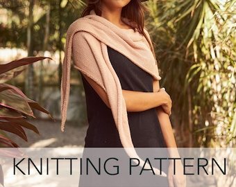 Knitting Pattern // Scarf Sarong Shawl Wrap Headwrap Head Scarf Belt // Sunstone Multi-Wrap PATTERN