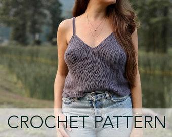 Crochet Pattern // Art Deco Easy Tank Top Camisole Slinky Crisscross Straps  // Deco Tank PATTERN