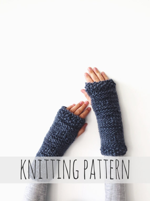 PATTERN for Knit Fingerless Gloves Arm Warmers Gauntlets // | Etsy
