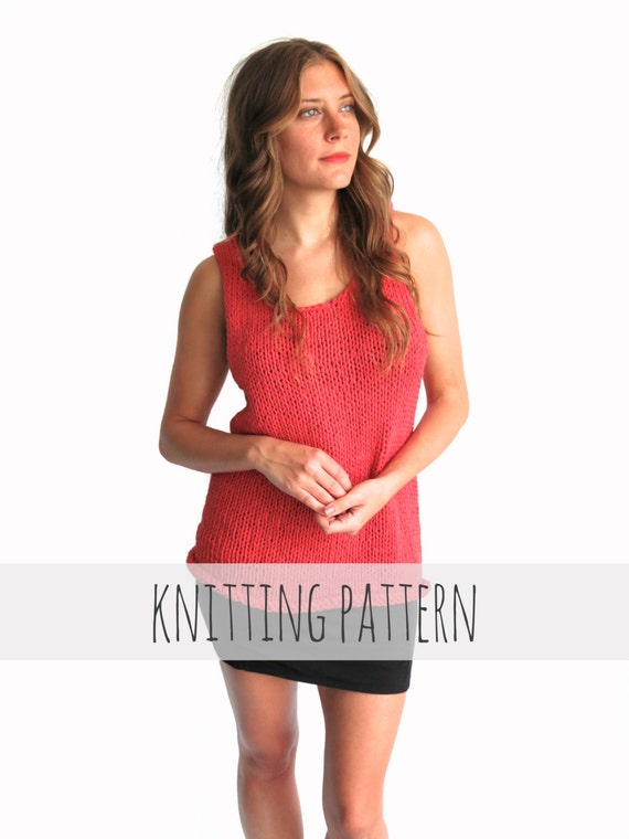 Pattern For Knit Tank Top Casual Everyday Simple Loose Etsy