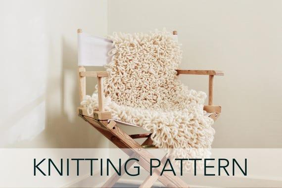 Knitting Pattern // Faux Fur Knit Sheepskin Hide Rug Throw //   Etsy