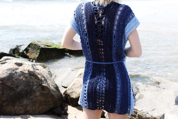 496db6a219 Crochet Pattern    Crochet Beach Cover Up Ombre Swimsuit Cover