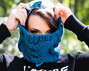 Knitting Pattern for Cable Knit Scarf | Infinity Cowl | Instant download PDF Knitting Pattern