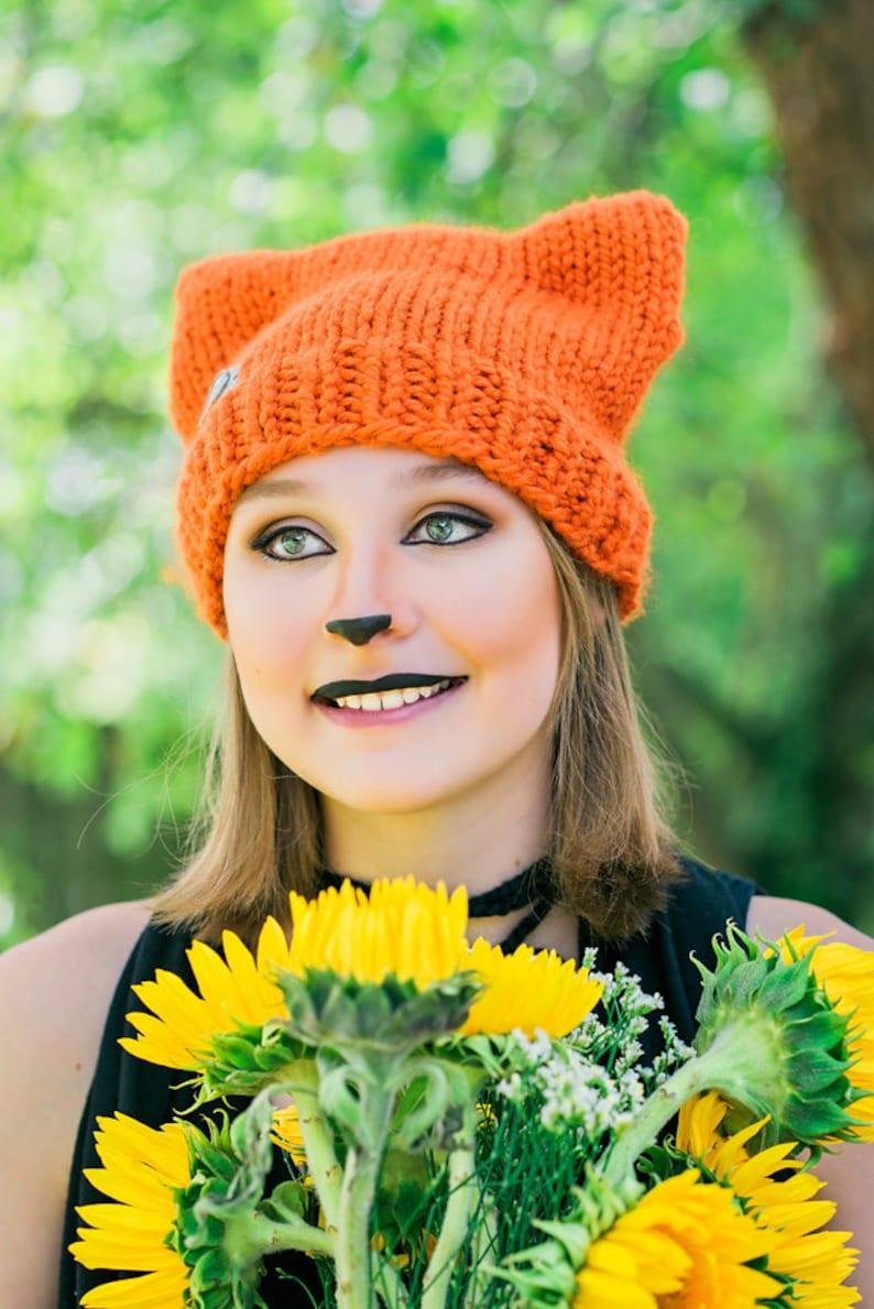 Cat Ear Beanie PDF Knitting Pattern Knit Hat Pattern | Etsy