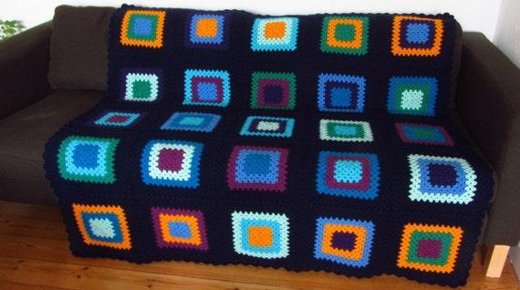 Gehäkelte Decke Häkeln afghanischen Decke Oma Quadrate Decke