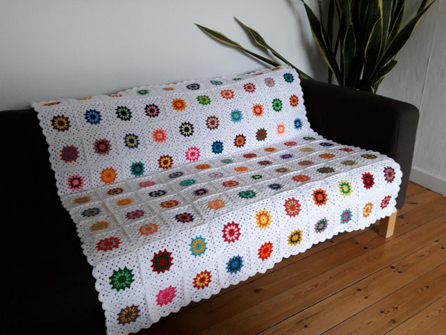 Colorful Throw Blankets Impressive Throw Blanket White Throw Blanket Couch Throw Blanket Sofa Etsy