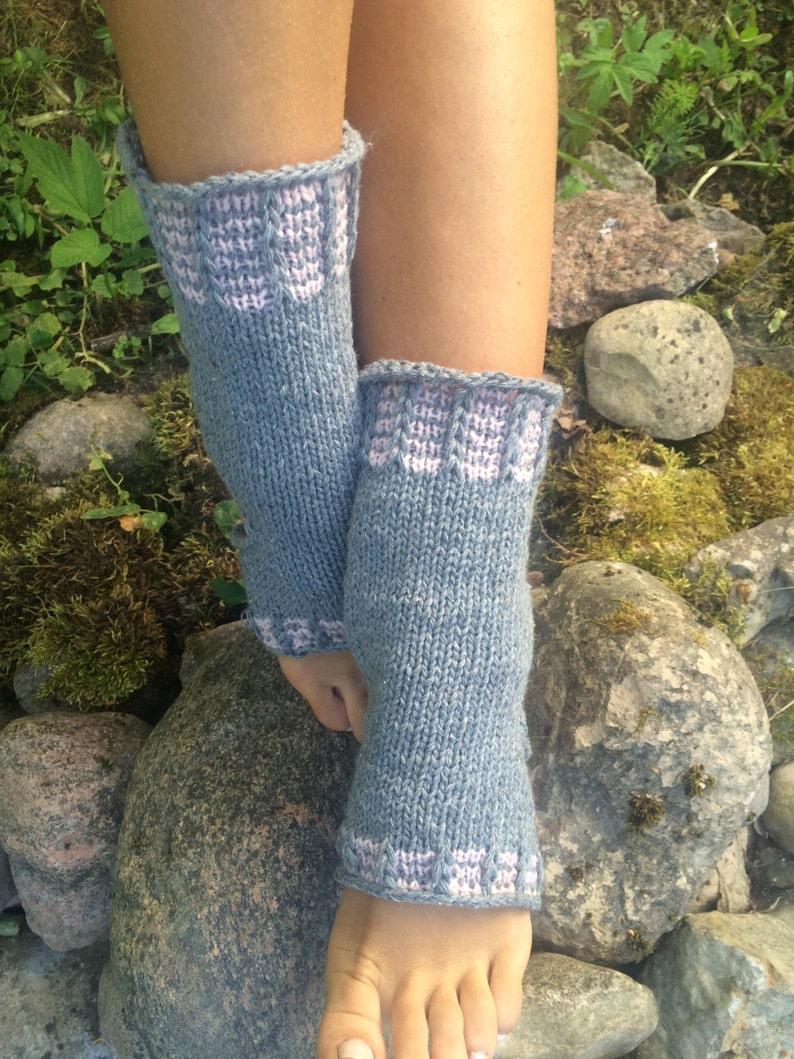 Yoga Socken Hand stricken Pilates Socken grau Socken Tanz ...