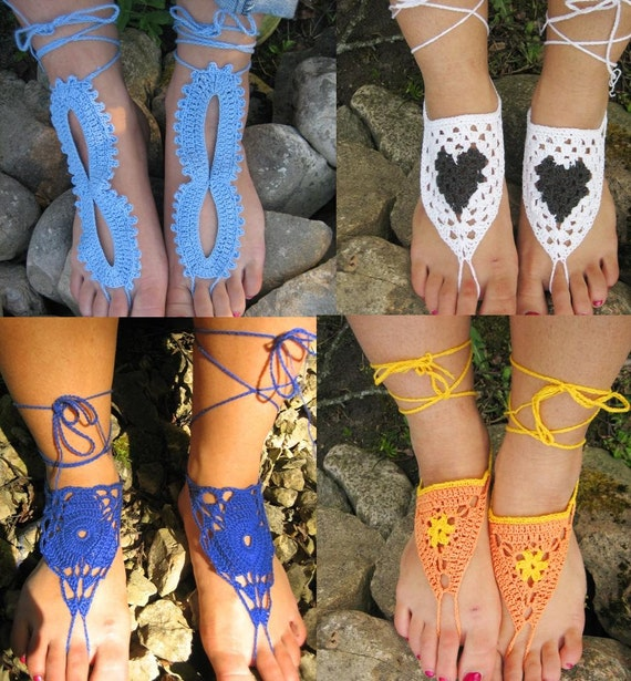 Set de dentelle pieds de bijoux 3 chaussures pied au de sandales sandales nue tongs Sexy 4 prix Nu pour de un chaussures Yoga sandales pied Crochet 6E4w68xq