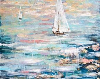Sailing Away 2-A Print of an Original Acrylic painting