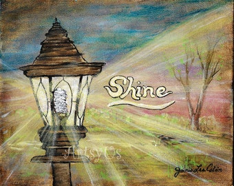 Shine word art inspirational print
