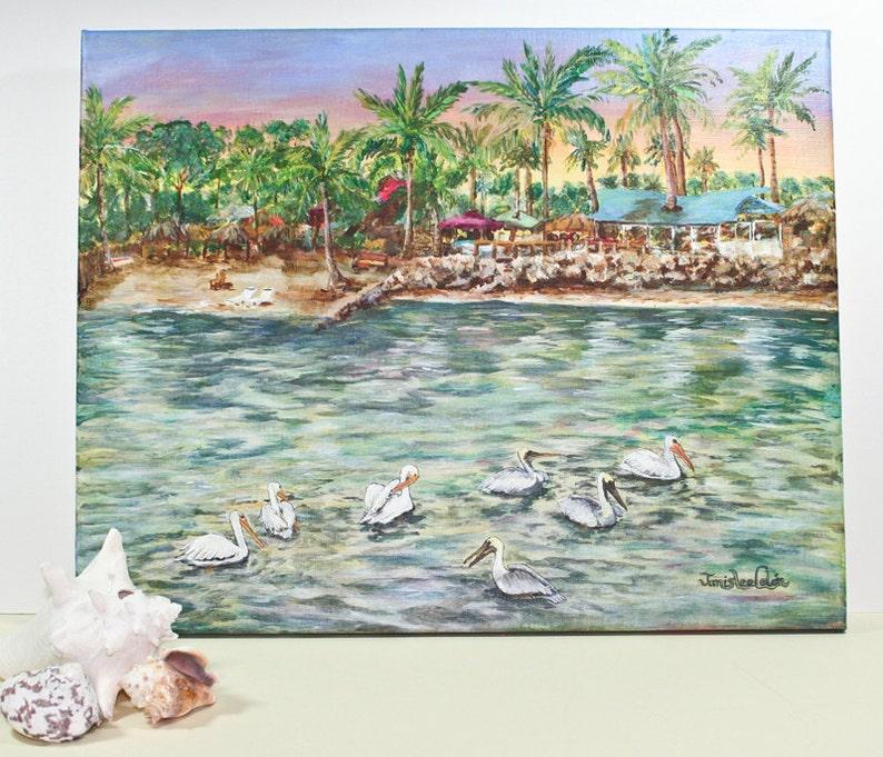 Pelican Medley  original Acrylic Painting image 0