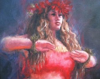 Wahine Haʻa -  Hawaiian Art print
