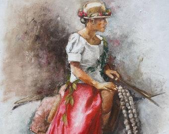 Paʻu Princess -  Hawaiian Art print