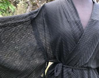 KK Silk Kimono Maxi Robe Duster