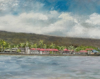 Kailua Bay -  Hawaiian Art print