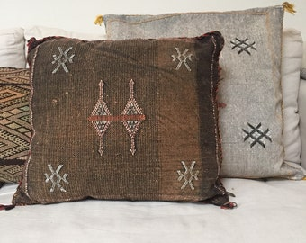 Sabra cactus silk pillow vegan silk cushion