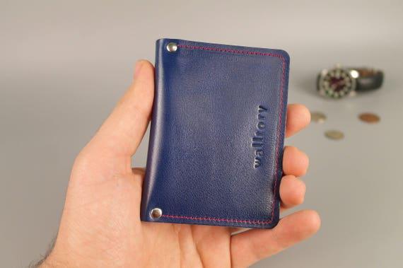 design senza tempo b21b3 6b20b Portafoglio portadocumenti, personalizzato, scheda portafoglio minimalista  in pelle, portafoglio, 2 tasca chiaro, Identificativo titolare della carta,  ...