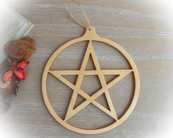 8x8 inches Folk art style pentacle design  print without watermark of course! Matt finish photography paper.