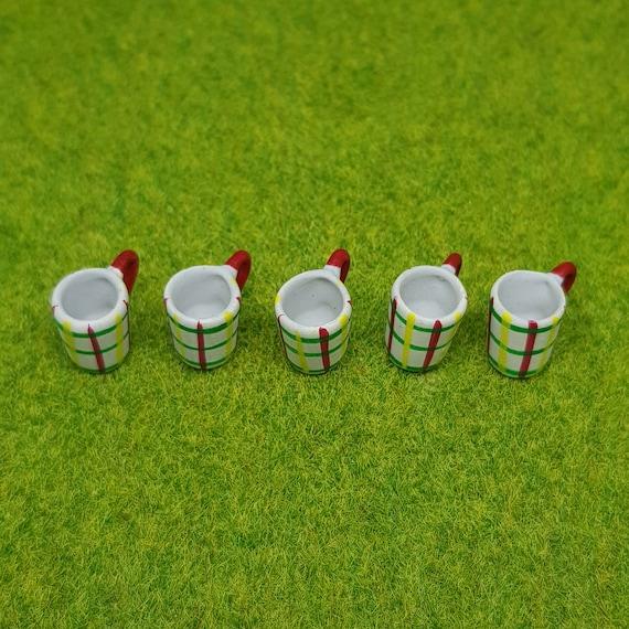 10x15 mm White Ceramic Ice Cream Cups Dollhouse Miniatures Supply 12440
