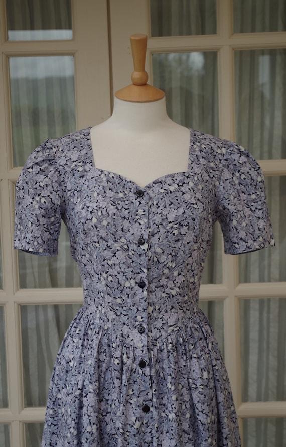 Vintage Laura Ashley Dress Size UK 12 EU 38 US 8 1