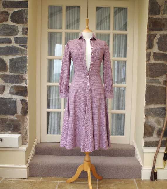 Vintage Laura Ashley Dress XS UK 8 Made in Wales 1