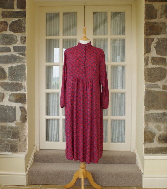 Vintage Smock Dress Size UK 12 - 14 1980s