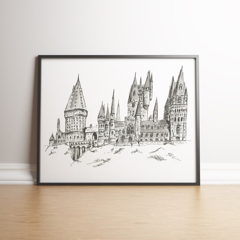 Hogwarts Castle Harry Potter Fan Gift Landscape (wide)