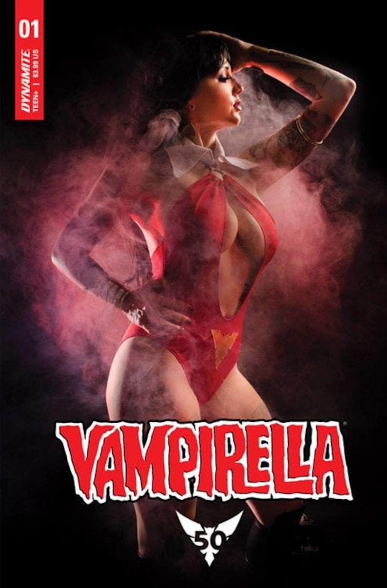 SIGNED Vampirella 50th Anniversary Issue 1 Vampirella Cosplay Signed Comic