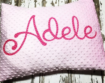 Personalized Minky Pillowcase with Envelope fold in the back