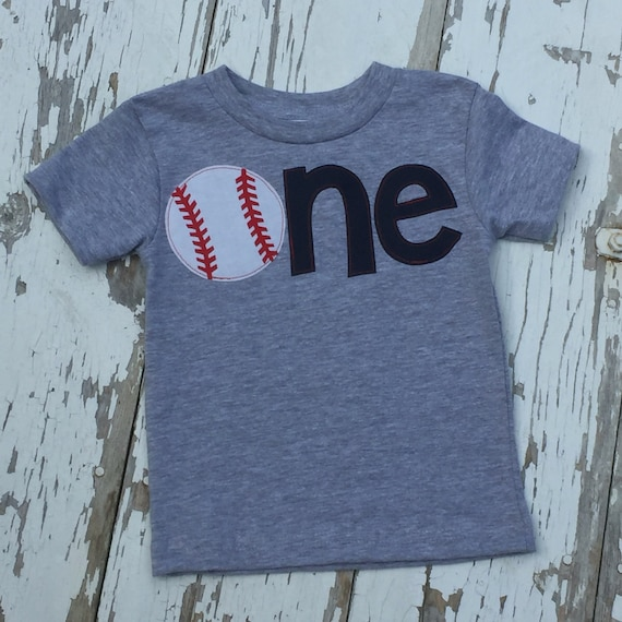 First Birthday Shirt Baseball