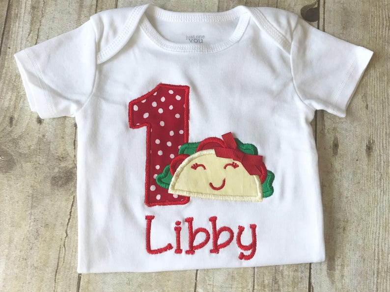 Personalized Taco First Birthday Outfit