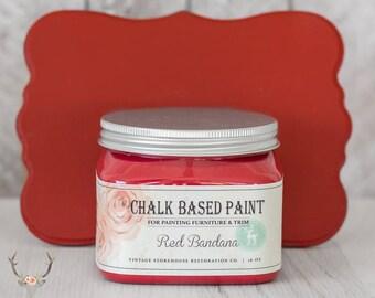 Peinture - à base d'entrepôt Vintage craie Bandana rouge