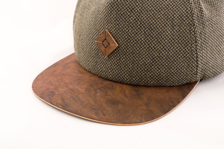SnapBack Cap mit Holz Krempe SnapBack-Hut Handgefertigt