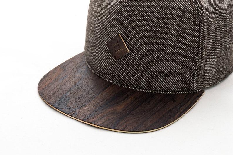 084b5265863d3 Snapback hat with WOOD brim mad by AUSTRA headwear   snapbacks