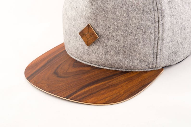83b81e4514247 Snapback hat with WOOD brim baseball cap trucker cap AUSTRA