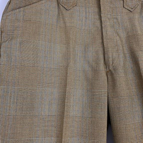 Orange Gray Brown Glen Plaid Pants Medium Medium … - image 8