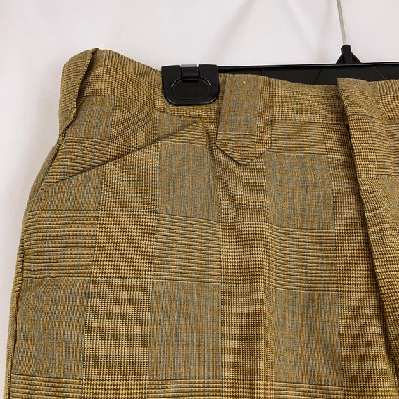 Orange Gray Brown Glen Plaid Pants Medium Medium … - image 6
