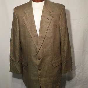Vintage 80/'s Eighties Men/'s 42 Long Sport Coat Tan Ultra Suede Brown Leather Buttons Wrancher Western Wear Wrangler Made in USA