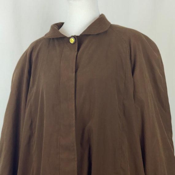 Brown Faux Suede Coat  1X Plus Size Removable Lini