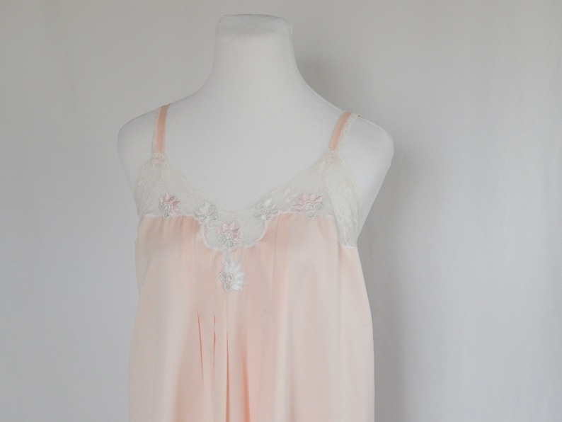 b7deac4b51608 Vintage 80's Eighties Women's S Small Nightgown Blush Pink Lace Tank Top  Sleeve Eve Stillman Wedding Baby Doll